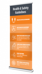 fitness rules banner stand