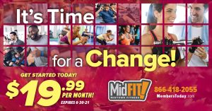 fall fitness direct mail postcard