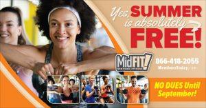 fitness summer promo postcard