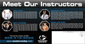 mma direct mail postcards