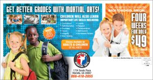 martial arts back to school direct mail