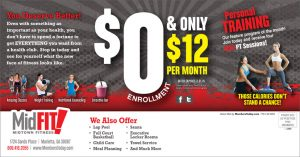 personal training promotion direct mail