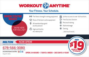 workout anytime direct mail piece
