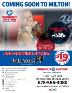 workout anytime flyer