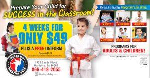 martial arts school postcards