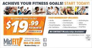 summer fitness postcard