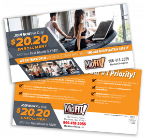 Fitness Direct Mail Piece