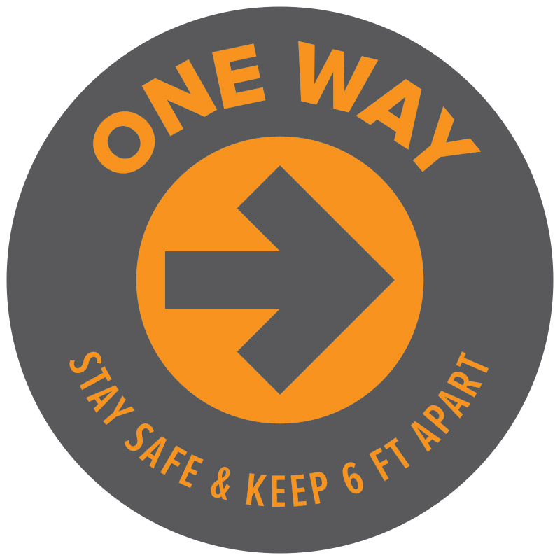 one way decal