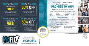 holiday direct mail postcard