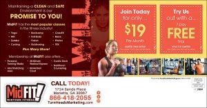 fitness postcards