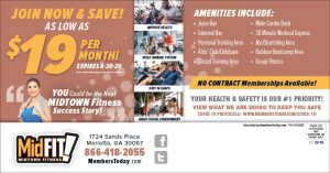 fitness direct mail postcard